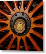 Wooden Spokes Metal Print