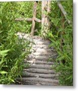 Wooden Stairs Metal Print