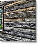Wooden Wall  Metal Print
