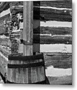 Wooden Water Barrel Metal Print