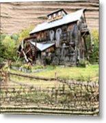 Wooden Water Mill Metal Print