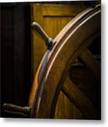 Wooden Wheel Metal Print