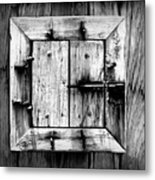 Wooden Window II Metal Print