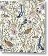 Woodland Edge Birds Metal Print