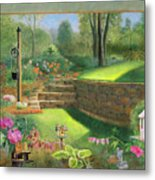 Woodland Garden In A Small Town Metal Print