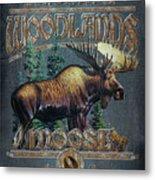 Woodlands Moose Sign Metal Print
