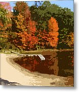 Woodlands On The Lake Metal Print