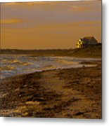 Woodneck Beach Sunset Metal Print