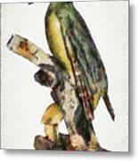 Woodpecker Red Heads Metal Print