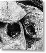 Woodpile Caves Metal Print