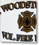Woodstock Fire Dept Metal Print
