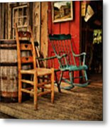Woodworker's Porch Metal Print