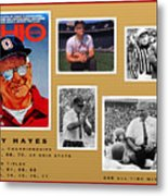 Woody Hayes Legen Five Panel Metal Print