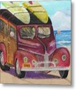 Woody On Beach Metal Print