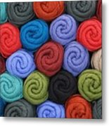 Wool Yarn Skeins Metal Print