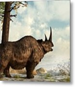 Woolly Rhino Metal Print