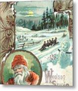 Woolson Spice Company Christmas Card Metal Print