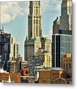 Woolworth Building From Hudson River Metal Print