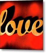 Words Of Love And Retro Romance Metal Print