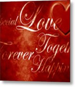Words Of Love Metal Print
