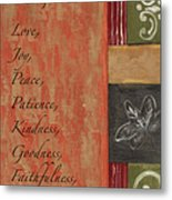 Words To Live By, Fruit Of The Spirit Metal Print