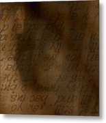 Words Winding Metal Print by Vicki Ferrari