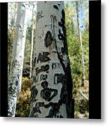 Words Written In The Trees 1 Metal Print