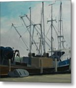 Work Boat At Rest Metal Print