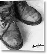 Work Boots Metal Print