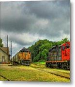 Work Horse Trains 3 Madison Georgia Locomotive Art Metal Print