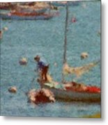 Work These Sails Honey Boothbay Harbor Maine Metal Print