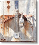 Work Trailer Lock Number One Metal Print
