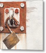 Work Trailer Lock Number Two Metal Print
