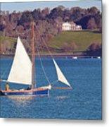 Working Boat At Trelissick Cornwall Metal Print
