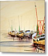 Working Boats Metal Print
