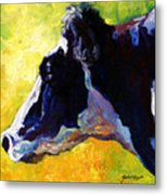 Working Girl - Holstein Cow Metal Print