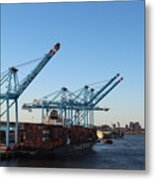 Working The Port Of New Orleans Metal Print