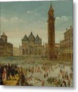 Workshop Of Caullery, Louis De Caulery Circa 1580 - 1621 Antwerp Carnival In Venice. Metal Print