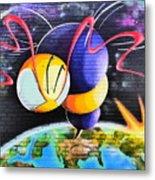 World Color Bee Metal Print