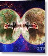 World Communications Metal Print