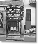World Famous Love Acts French Quarter New Orleans Louisiana 1976-2012 Metal Print
