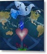 World Healing Inspirational Metal Print