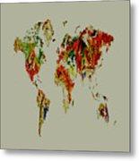 World Map 02a Metal Print