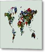 World Map 12b Metal Print