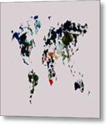 World Map 14b Metal Print