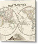 World Map - 1842 Metal Print