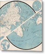 World Map - 1857 Metal Print