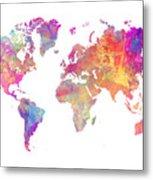 World Map Art Metal Print