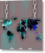 World Map Collection Metal Print