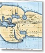 World Map: Eratosthenes Metal Print